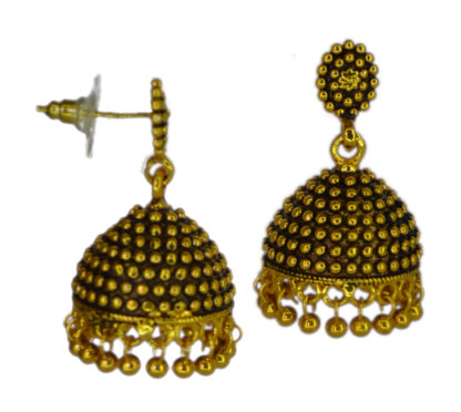 Crave Oxidized Gold Plated Jhumki for Women - 18L0001-2