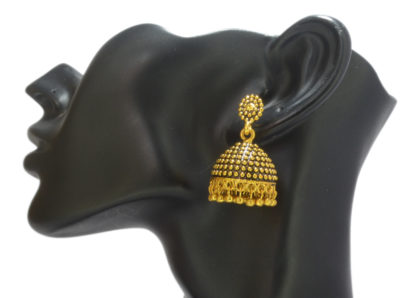 Crave Oxidized Gold Plated Jhumki for Women - 18L0001-3