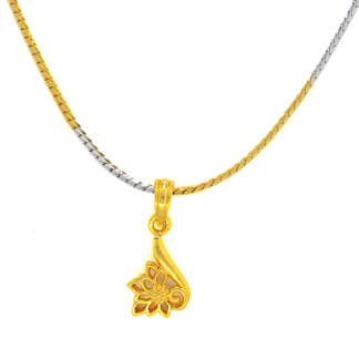 Crave Duel Tone Chain with Gold Plated Pendant - 18L0126-3
