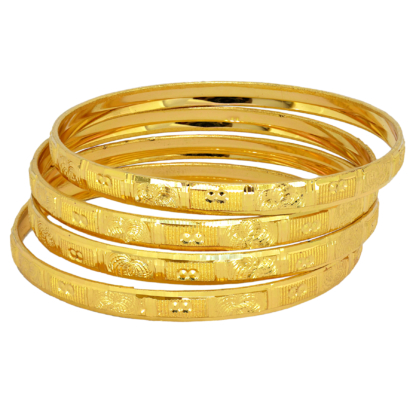 Crave Gold Plated set of 4 Bangles - 19J00269-1